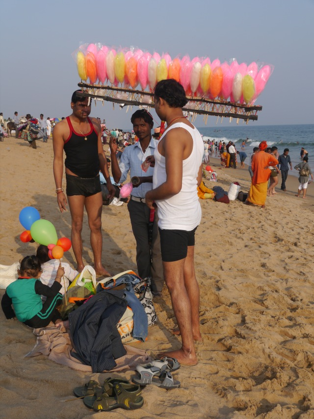 Swimmers with Cotton Candy Vendor